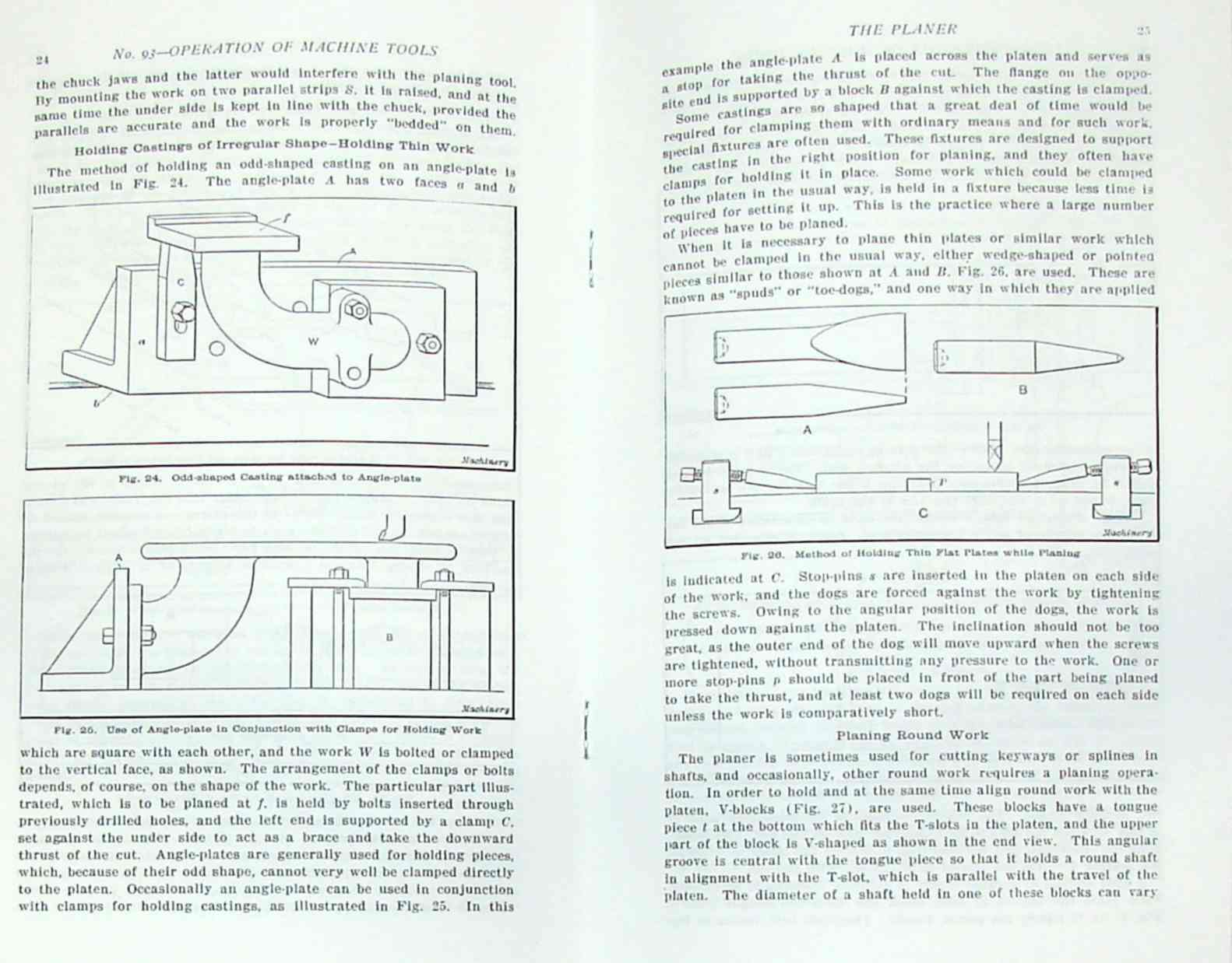 Operations Manual for Shaper, Planer & Slotter Machines
