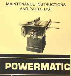 powermatic 66 table saw instruction part manual [ 1009 x 1362 Pixel ]