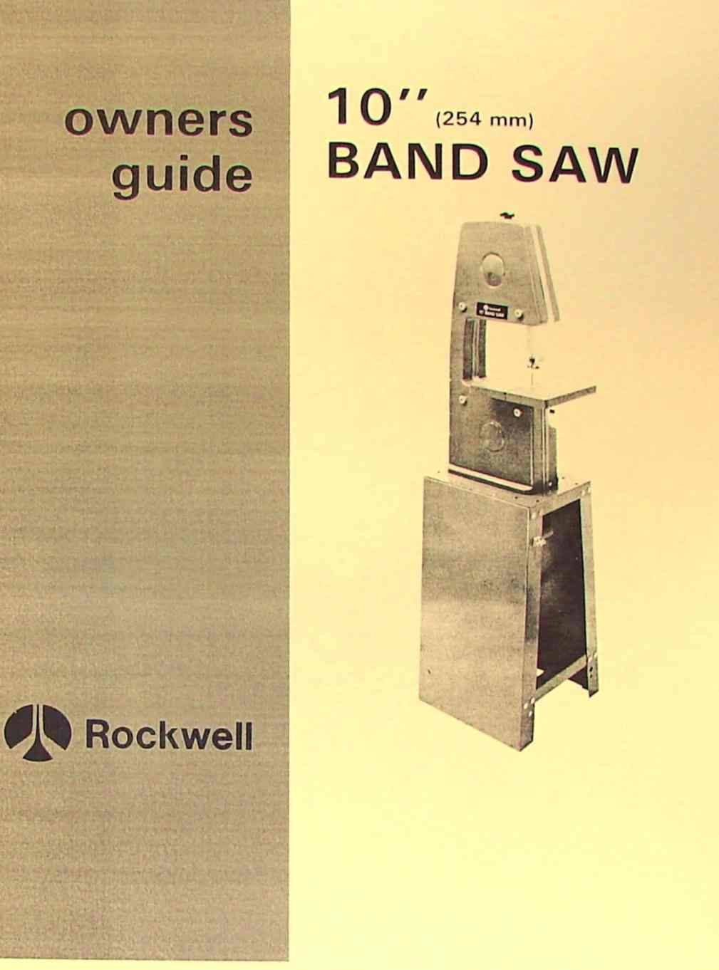 Beaver Bandsaw Parts