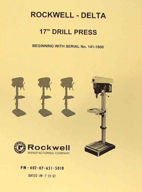 Drill Press Parts Identification - Year of Clean Water