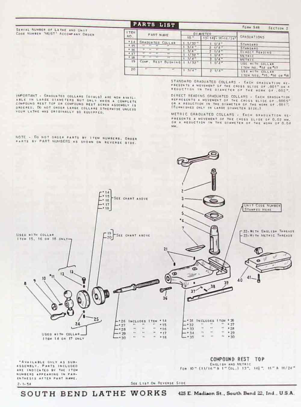 medium resolution of south bend 10 13 14 5 16 16 24 lathes parts manual