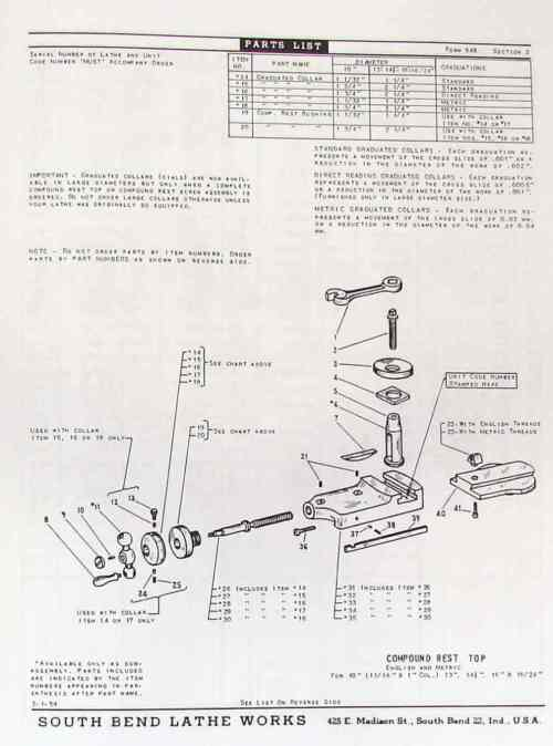 small resolution of south bend 10 13 14 5 16 16 24 lathes parts manual