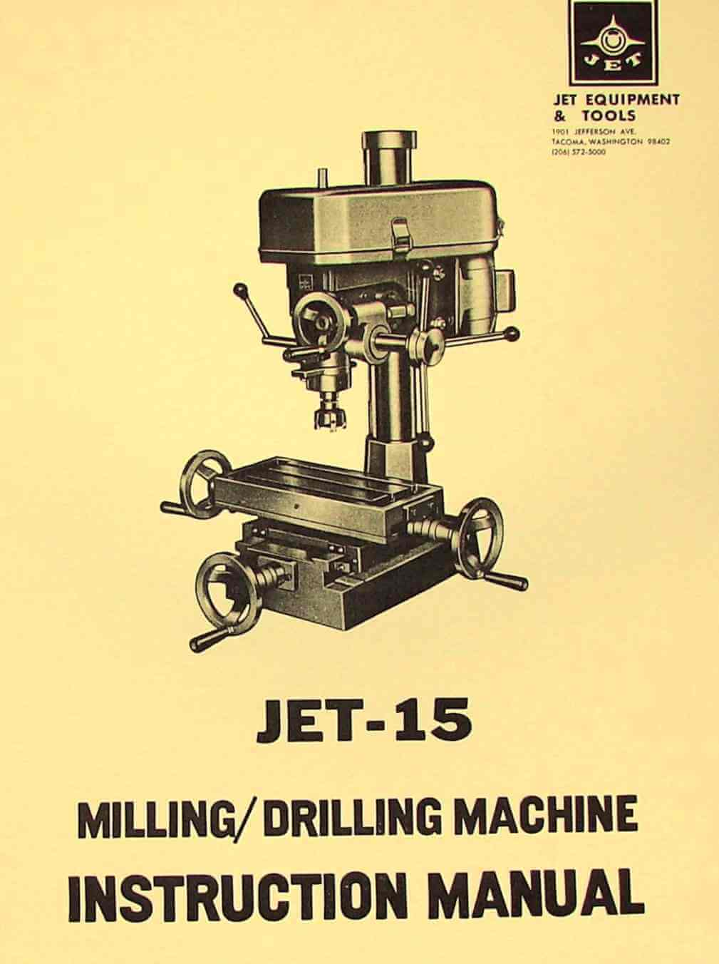 hight resolution of jet 15 drill mill instructions and parts manual asian enco msc