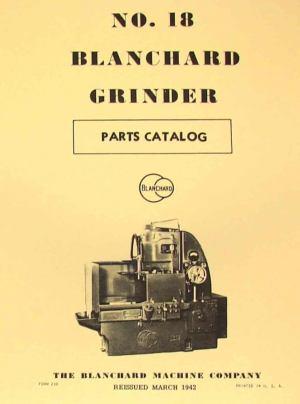 BLANCHARD 18 Surface Grinder Parts Manual | Ozark Tool Manuals & Books