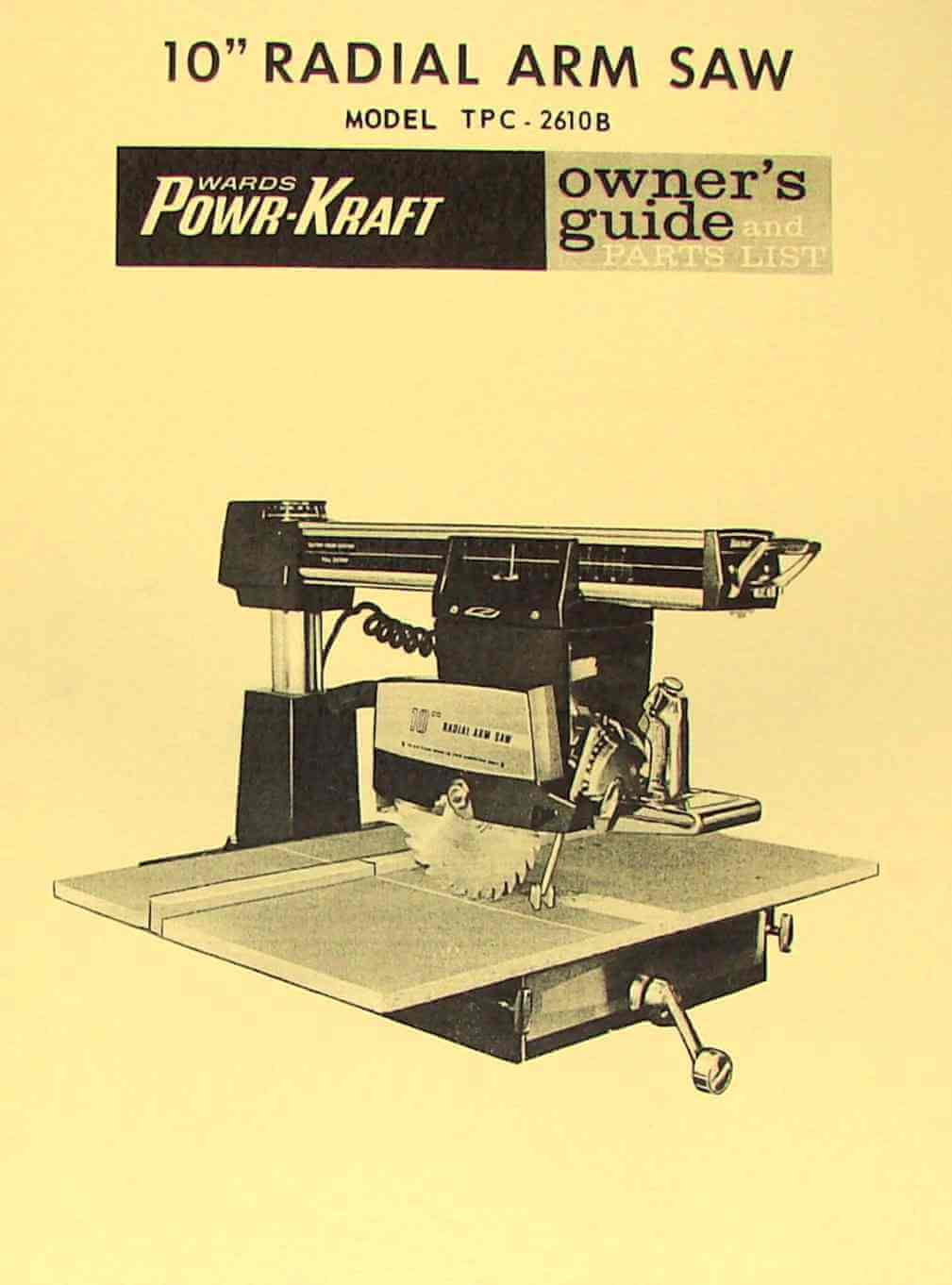 Powr Kraft Table Saw Manual