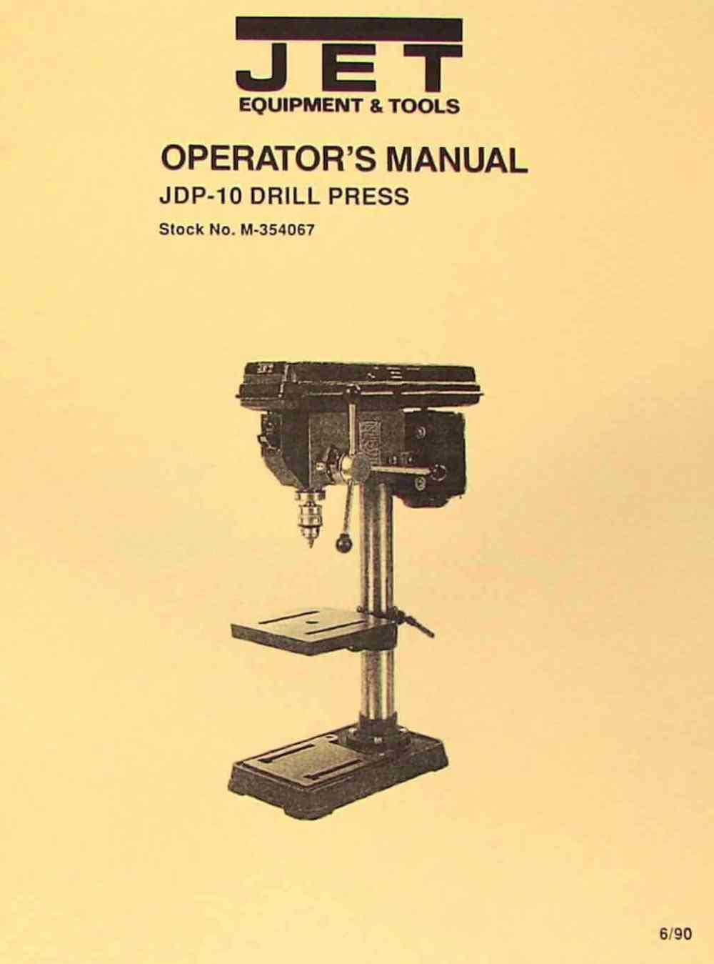 medium resolution of jet asian jdp 10 10 drill press owner s operator s parts manual