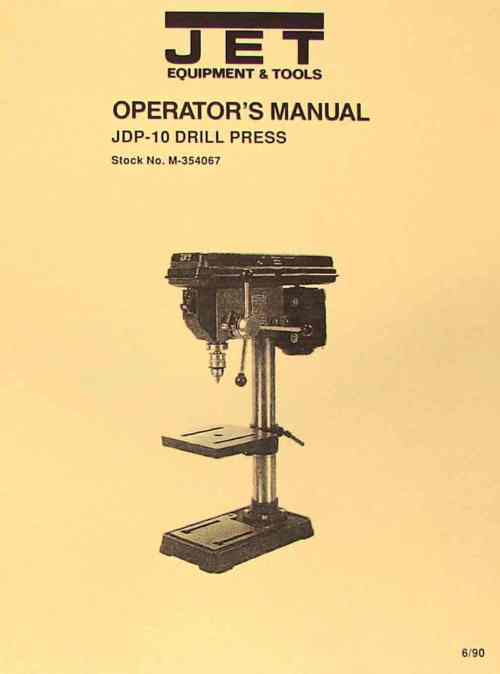 small resolution of jet asian jdp 10 10 drill press owner s operator s parts manual