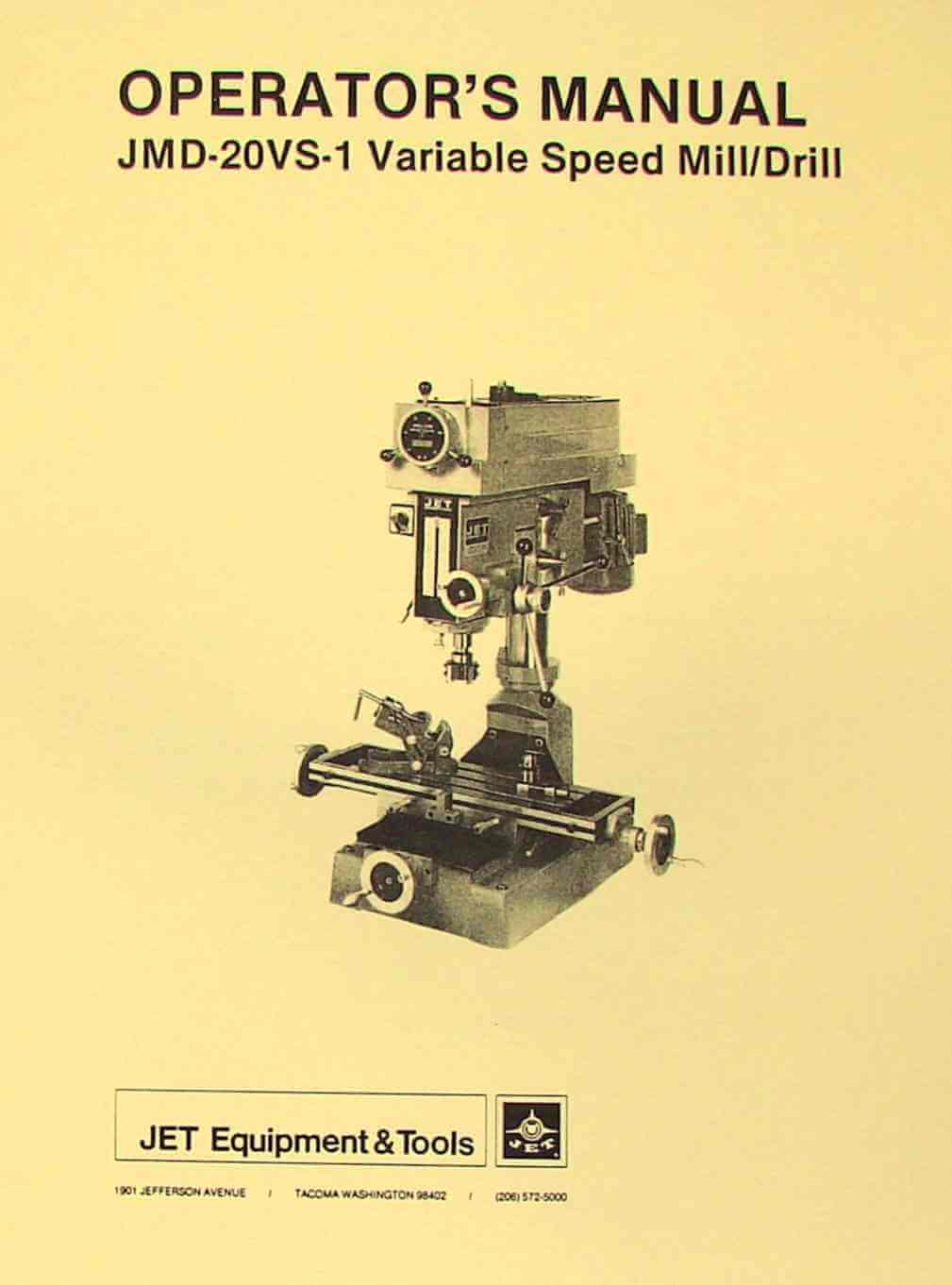 hight resolution of jet asian jmd 20vs 1 drill milling machine operator s parts manual