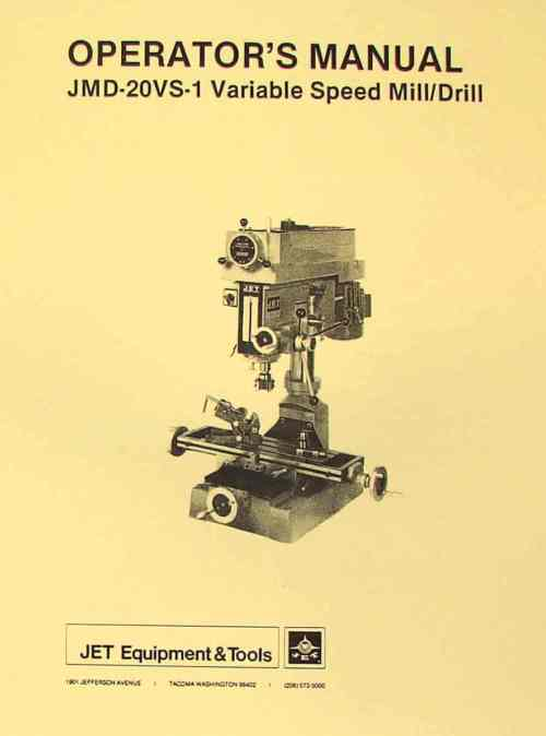 small resolution of jet asian jmd 20vs 1 drill milling machine operator s parts manual