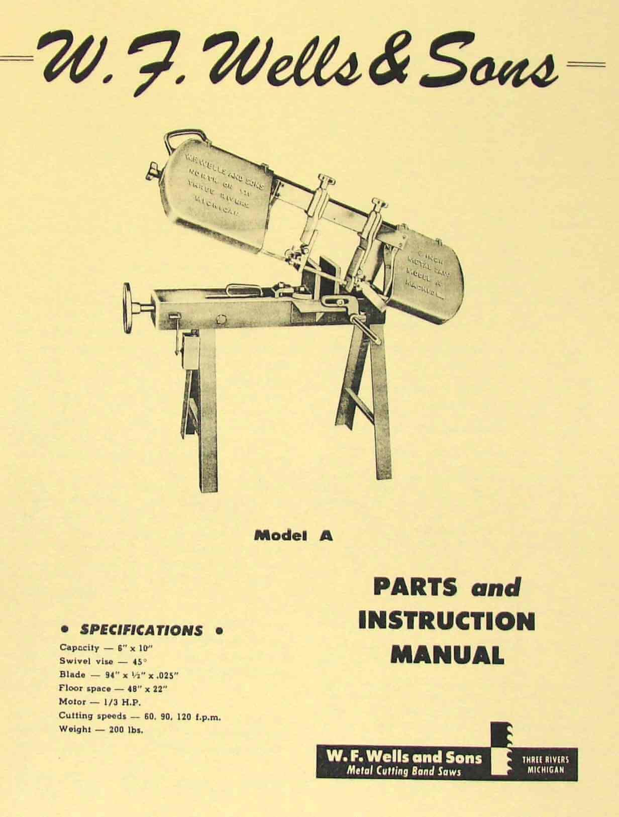 General Bandsaw 490 Manual
