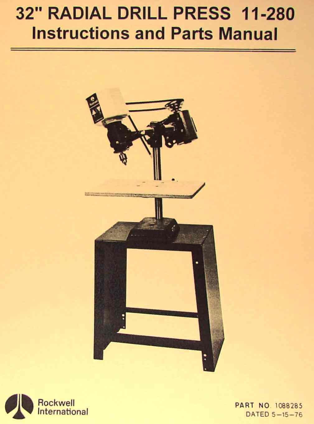 Drill Press Manual Pdf