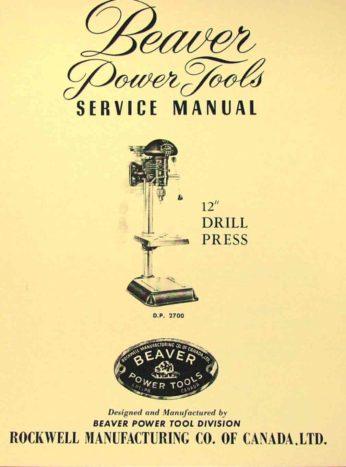 Rockwell Beaver 3400 Lathe Manual