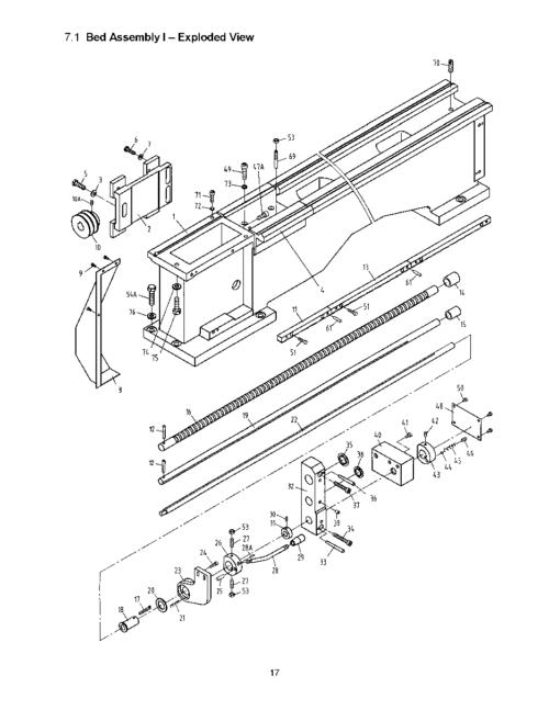 JET GHB-1340A, GHB-1440A, BDB-1340A Metal Lathe Parts