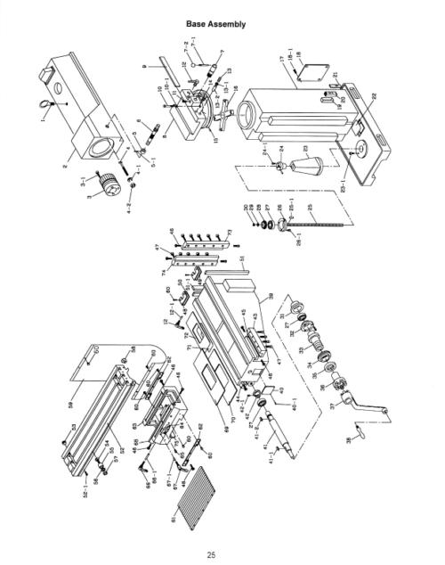 JET JTM-1055 Vertical Milling Machine Instructions & Parts