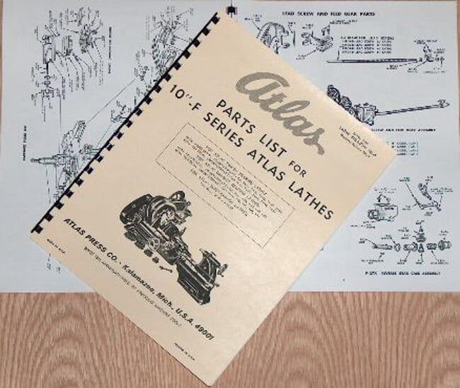 Atlas Lathe Parts Diagram