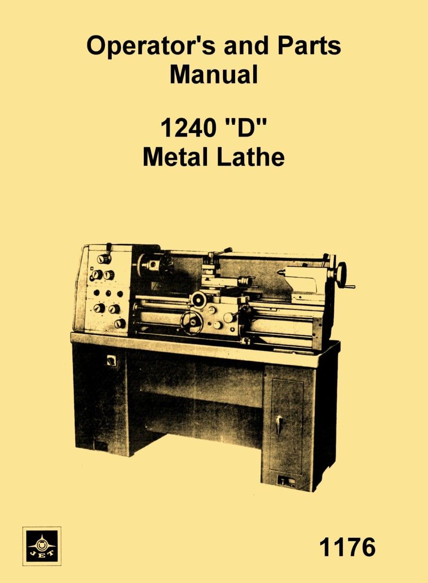 medium resolution of jet enco msc asian model 1240 d 12 x 40 metal lathe owner s rh ozarktoolmanuals com engine lathe parts diagram engine lathe parts diagram