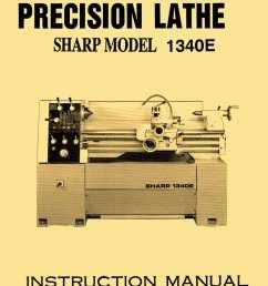 sharp 1340e jet gh 1340t 13 x 40 metal lathe owner s instructions parts manual [ 830 x 1200 Pixel ]
