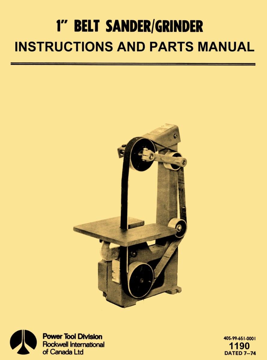 Delta Rockwell Sander Grinder Manual