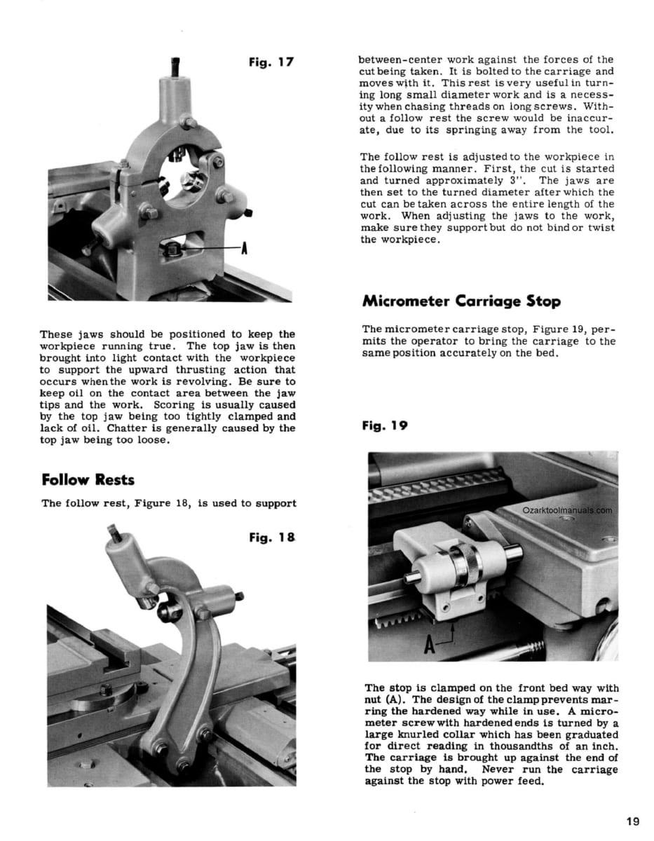 hight resolution of leblond regal 13 15 17 19 lathe manual no 3932