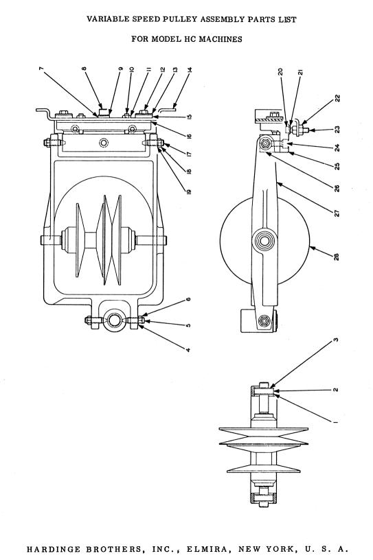 HARDINGE HC & HCT Chucking Lathe Parts Manual Serial After