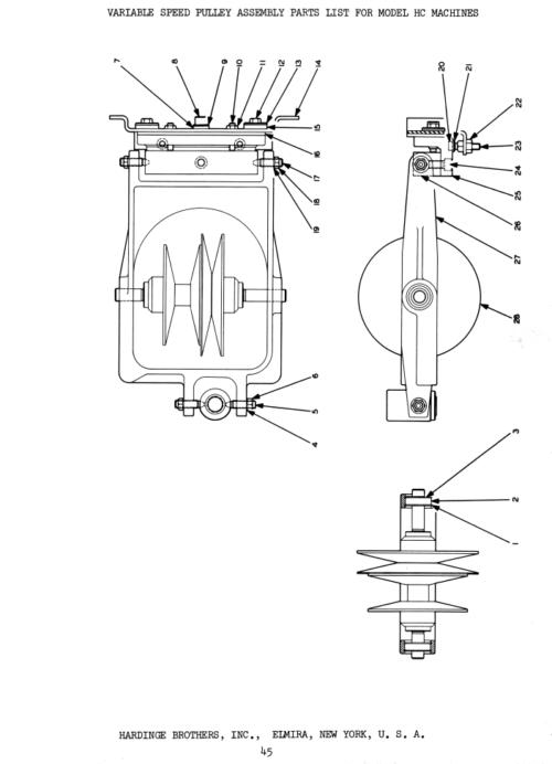 HARDINGE HC, HCT, HCAT, HCR, HCAT-R Hot Rod Chucking Lathe