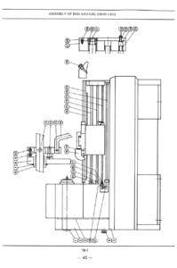 SHARP 1760K Metal Lathe Instructions & Part Owner's Manual