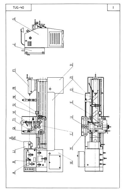 TUG-40 Andrychow, Polamco, Toolmex, Famot Metal Lathe