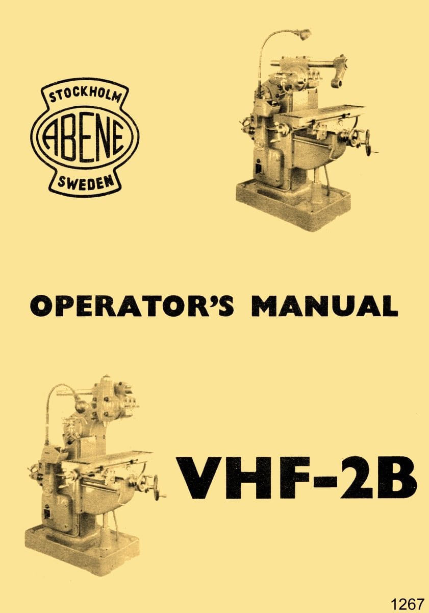 hight resolution of abene vhf 2b milling machine owner s operator s wiring diagram manual