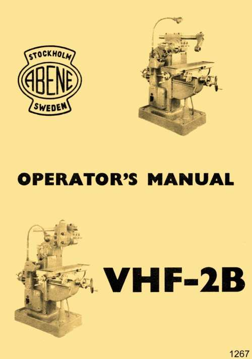 small resolution of abene vhf 2b milling machine owner s operator s wiring diagram manual