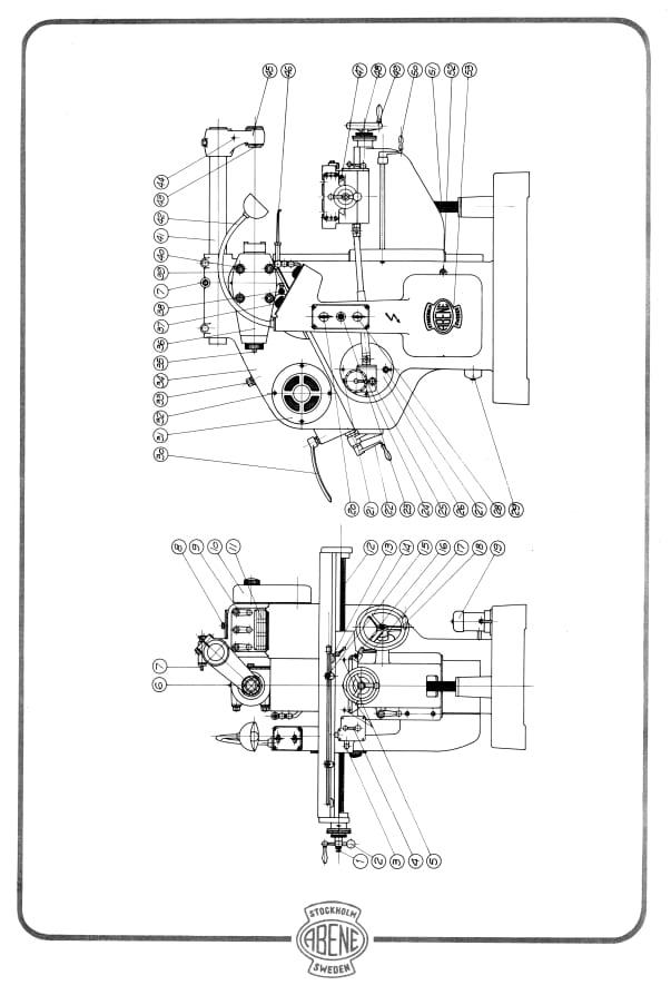 ABENE VHF-2B Milling Machine Owner's Operator's Wiring
