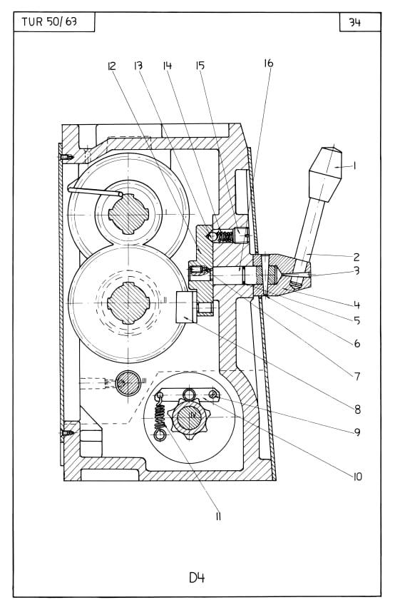 TUR-50 & TUR-63 Toolmex, Wafum, Polamco Metal Lathe Parts