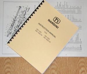NARDINI MS1400TR MS1600TR Metal Lathe Instructions & Parts Manual