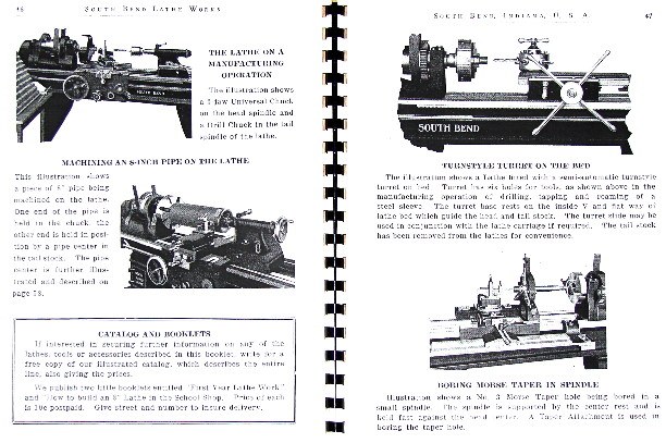 SOUTH BEND How to Run a Lathe Operator's Manual 1906-1930s