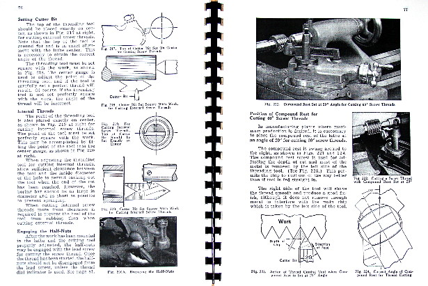 SOUTH BEND How to Run a Lathe Operator's Manual 1950s-late