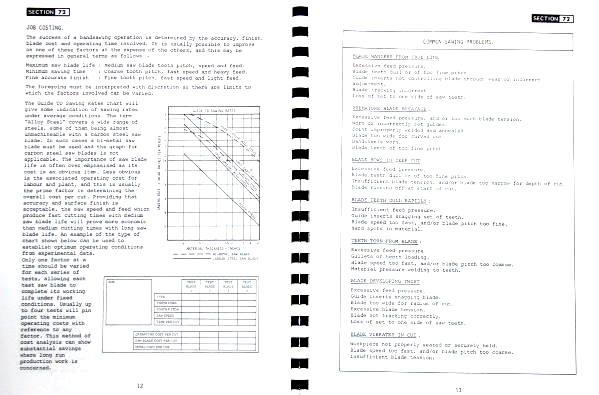 KALAMAZOO-STARTRITE Band Saw 216, 316 Service Manual 0413