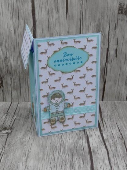 Carte pochette Kop Eskimo sur fond bois