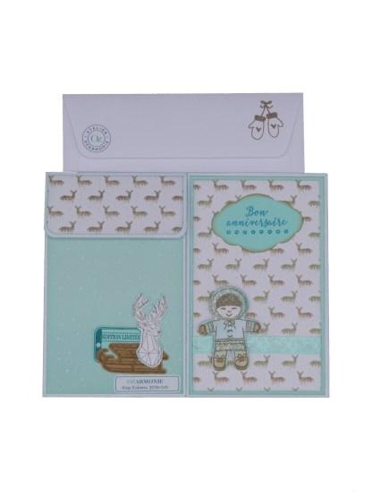 Carte pochette Kop Eskimo avec enveloppe