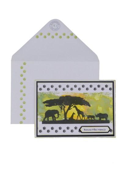 Paysage sauvage Aztarna avec enveloppe