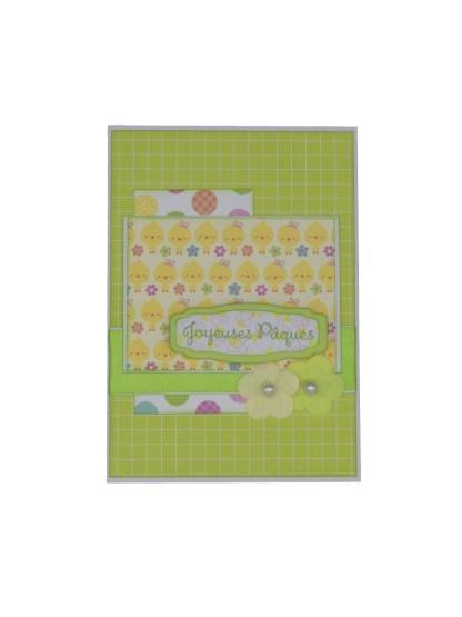 Carte poussins joyeuses pâques