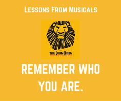 Lessons from Musicals The Lion King