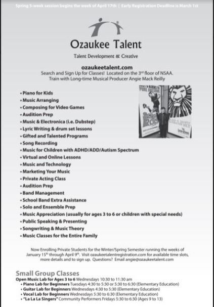 Ozaukee Talent Classes page 11