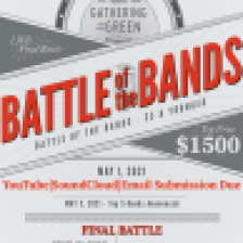 Battle of the Bands Poster by Gathering on the Green