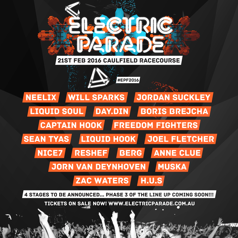 electric parade 2016 lineup