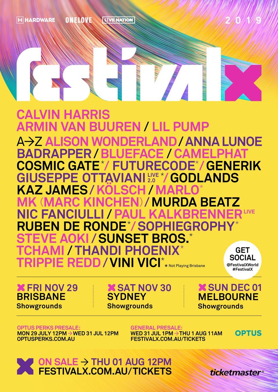 Festival X 2019 Lineup Flyer