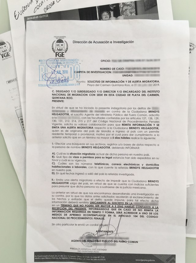 bryndis helgadottir mexico police alert