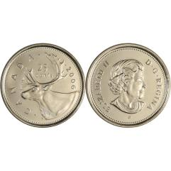 Canada 25 cent coin