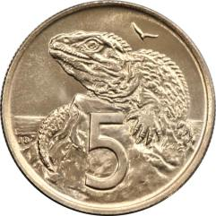 New Zealand 5 cent coin
