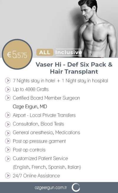 Vaser Liposuction Six Pack & Hair Transplant
