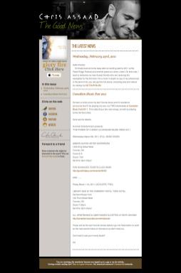 Chris Assaad - Official Newsletter