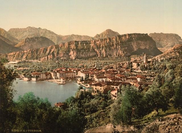 Torbole, Lake Garda Italy 1890 vintage photo